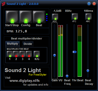 Sound 2 Light V2 - Digiplay Technical Support